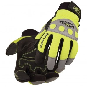 Revco/Black Stallion® ToolHandz® Grain Pigskin Hi-Vis Mechanics Glove