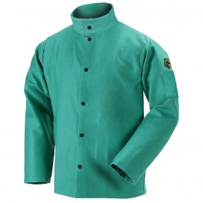 Revco/Black Stallion® TruGuard™ 200 FR Cotton Welding Jacket, Green, Medium