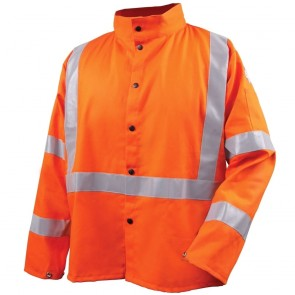 Revco/Black Stallion® Safety Welding Jacket with FR Reflective Tape, Safety Orange, XXX-Large