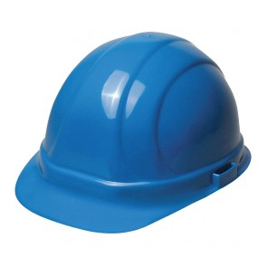 ERB Omega II Hard Hat - 6-Point Ratchet Suspension – Blue