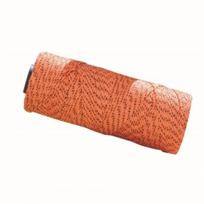 Bon Tool Bonded Braided Nylon Flecked Line - 500' Orange/Black Flecks