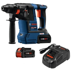 "Bosch Core 18V 1"" SDS Plus Rotary Hammer W/2 Fatpack Batteries (6.3 Ah)"