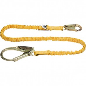 Werner 6ft SoftCoil Single Leg Lanyard (Energy Absorbing inner Core, Snap Hook, Rebar Hook)