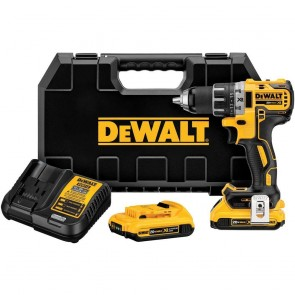 DeWalt 20V MAX XR Cordless Lithium-Ion 1/2 in. Brushless 2-Speed Compact Drill Driver Kit