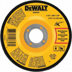 "DeWalt 4-1/2"" x .045"" x 7/8"" T27 Metal Cut-Off Whee"