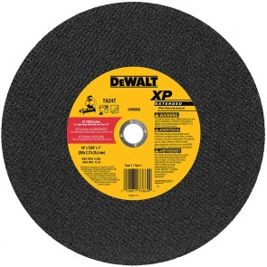 "DeWalt 14"" x 7/64"" x 1"" Extended Performance Stud Cutting High Speed Cut-Off Wheel"