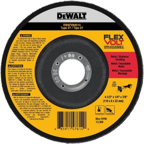 DeWalt T27 FLEXVOLT Grinding Wheel 4-1/2 in. x 1/4 in. x 7/8 in.