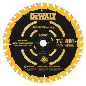"DeWalt 7-1/4"" T40 Carbide Combination Circular Saw Blade"