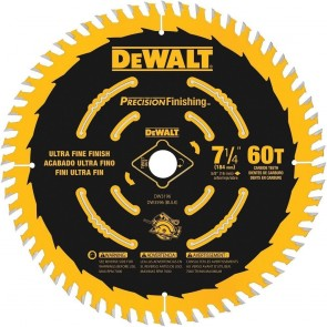 "DeWalt 7-1/4"" T60 Carbide Combination Circular Saw Blade"