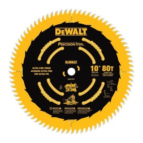 DeWalt 10 in. 80 Tooth Precision Trim Circular Saw Blade