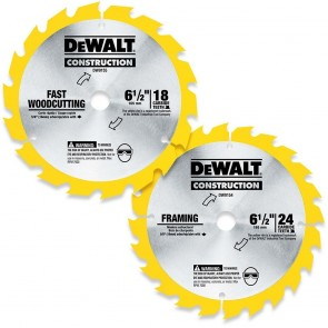 DeWalt 2-Piece 6-1/2 in. Circular Saw Blade Combo Pack