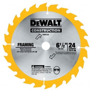 DeWalt 6-1/2 in. 24 Tooth Circular Saw Blade