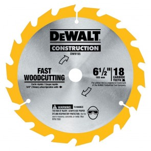 DeWalt 6-1/2 in. 18 Tooth Circular Saw Blade