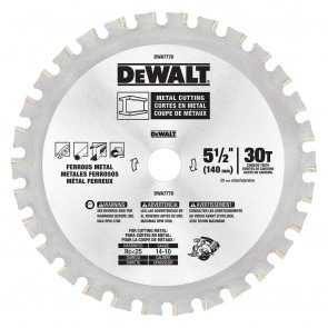 "DeWalt 5-1/2"" 30T Metal Cutting Blade"