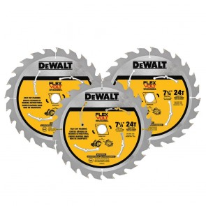 DeWalt 7-1/4 in. 24T Circular Saw Blade (3 Pack)