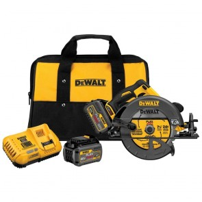 DeWalt 60V MAX Cordless Lithium-Ion 7-1/4 in. Circular Saw Kit with 2 FLEXVOLT Batteries