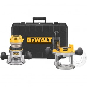 DeWalt 2-1/4 HP EVS Fixed Base & Plunge Router Combo Kit with Hard Case