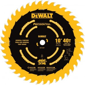 "DeWalt 10"" 40T Ripping / Crosscutting Saw Blade"