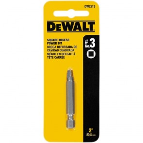 DeWalt 2-Inch #3 Square Recess Power Bit