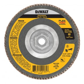 DeWalt T29 FLEXVOLT Flap Disc 4-1/2 in. x 7/8 in. 60-Grit