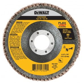 DeWalt T29 FLEXVOLT Flap Disc 4-1/2 in. x 7/8 in. 80-Grit