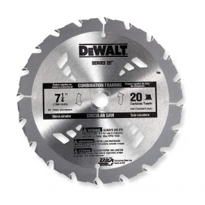 "DeWalt 8-1/4"" 24T Thin Kerf Construction Framing Blade"