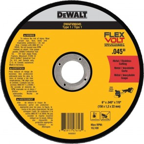 DeWalt T1 FLEXVOLT Cutting Wheel 6 in. x .045 in. x 7/8 in.