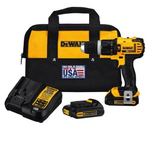 DeWalt 20V MAX Cordless Lithium-Ion Compact Hammer Drill Driver Kit