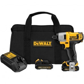 Dewalt 12V MAX Cordless Lithium-Ion 1/4 in. Hex Chuck Impact Driver Kit
