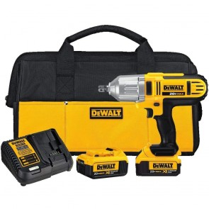 DeWalt 20V MAX XR Cordless Lithium-Ion 1/2 in. High-Torque Impact Wrench Kit with Detent Pin