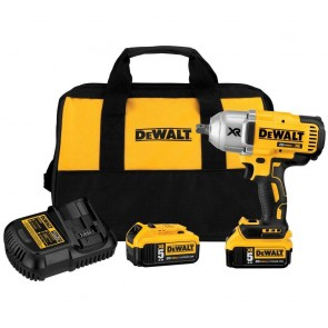 DeWalt 20V MAX XR Cordless Lithium-Ion 1/2 in. Brushless Detent Pin Impact Wrench Kit (2 Batteries)