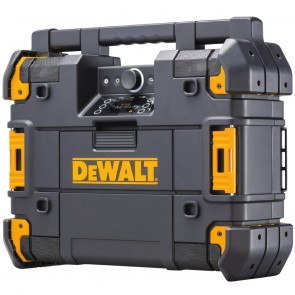 DeWalt TSTAK Stackable & Portable Bluetooth Radio & Charger