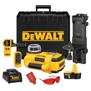 DeWalt 18 V Self-Leveling Int/Ext Rotary Laser Package