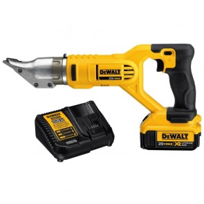 DeWalt 20V MAX 4.0 Ah Cordless Lithium-In 18-Gauge Swivel Head Double Cut Shears Kit
