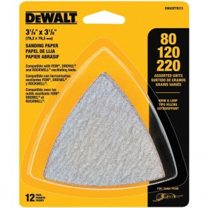 DeWalt Hook & Loop Triangle Sandpaper Assortment