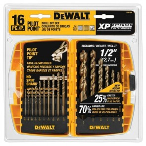 DeWalt 16-Piece Pilot Point and Drill Bit Set