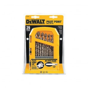 DeWalt 29-Piece Pilot Point and Drill Bit Set