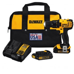 DeWalt 20V MAX Cordless Lithium-Ion Compact Drill Driver Kit w/ 2 Batteries