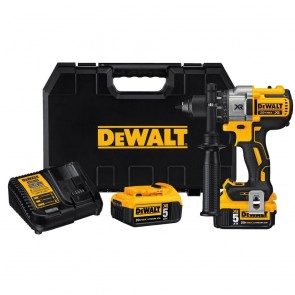 DeWalt 20V MAX 5.0 Ah XR Cordless Lithium-Ion Brushless 3-Speed 1/2 in. Drill Driver Kit