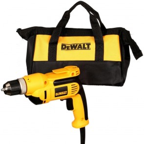 DeWalt 3/8 in. 0 - 2,500 RPM 7.0 Amp VSR Pistol Grip Drill Kit with Keyless Chuck