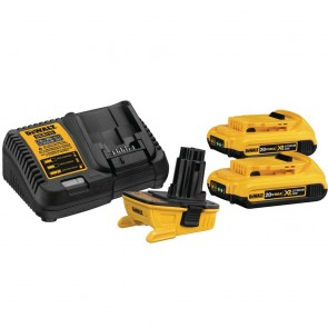 DeWalt 20V MAX Lithium-Ion Battery Adapter for 18V Cordless Tools w/ Charger