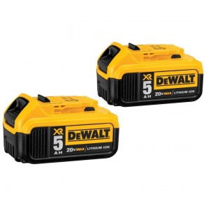 DeWalt 20V MAX 5.0 Ah XR Premium Lithium-Ion Battery (2-Pack)