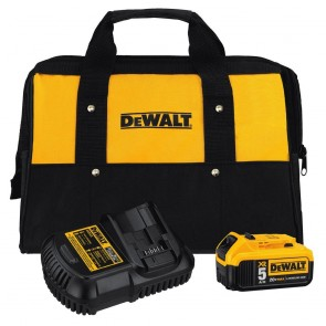 Dewalt 20V MAX 5.0 Ah Lithium-Ion Battery Kit with Bag