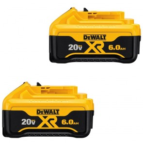 DeWalt 20V MAX 6.0 Ah XR Premium Lithium-Ion Battery (2-Pack)