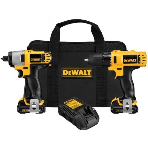DeWalt 12V MAX 1.5 Ah Cordless Lithium-Ion 3/8 in. Drill Driver and Impact Driver Combo Kit