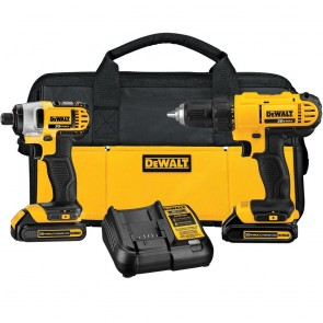 DeWalt 20V MAX Lithium Ion Drill Driver/ Impact Driver Combo Kit (1.3AH)
