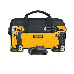 DeWalt 20V MAX Lithium Ion Compact Drill Driver/ Impact Driver Combo Kit (1.5AH)