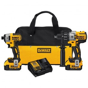 DeWalt 20V MAX XR 4.0 Ah Cordless Lithium-Ion Brushless Hammer Drill and Impact Driver Combo Kit