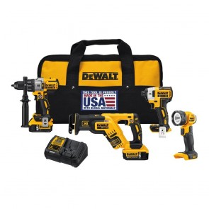 DeWalt 20V MAX XR Cordless Lithium-Ion 4-Tool Combo Kit