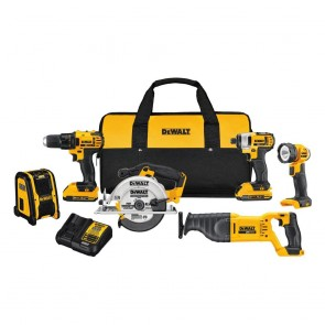 DeWalt 20V MAX 6-Tool Combo Kit Circ Saw, Drill, Driver, Radio, Recip Saw
